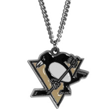 Pittsburgh Penguins Logo Chain Necklace NHL Hockey HN100N
