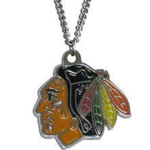 Chicago Blackhawks Logo Chain Necklace NHL Hockey HN10N