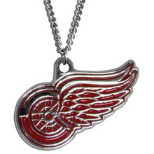 Detroit Red Wings Logo Chain Necklace NHL Hockey HN110N