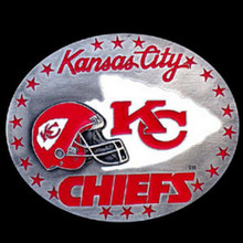 Kansas City Chiefs Helmet Belt Buckle NFL Football SFB045
