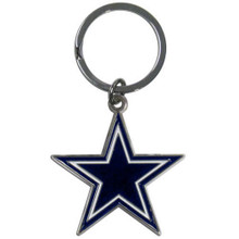 Dallas Cowboys Chrome Key Logo Chain NFL Football SFCK055
