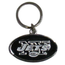 New York Jets Chrome Key Logo Chain NFL Football SFCK100