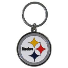 Pittsburgh Steelers Chrome Key Logo Chain NFL Football SFCK160