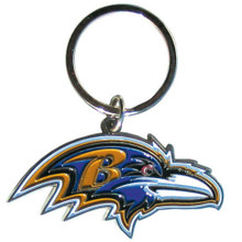 Baltimore Ravens Chrome Key Logo Chain NFL Football SFCK180