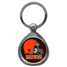 Cleveland Browns Domed Key Chain NFL Football SFK025C