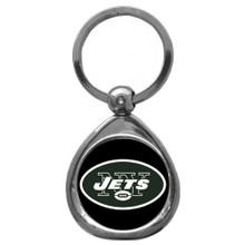 New York Jets Domed Key Chain NFL Football SFK100C