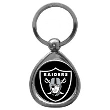 Oakland Raiders Domed Key Chain NFL Football SFK125C
