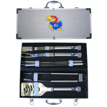 Kansas Jayhawks BBQ Set 8 pc NCCA College Sports BBQC21A