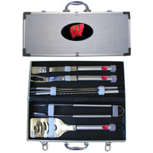 Wisconsin Badgers BBQ Set 8 pc NCCA College Sports BBQC51B