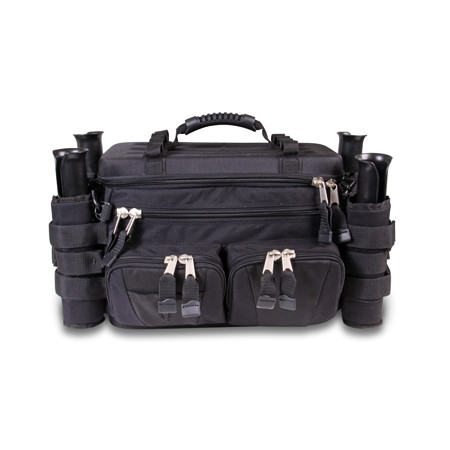Fishing tackle bag s2s divider bag with rod holders for Fishing backpack with rod holder