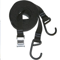 18' V-style Straps, pair - Black