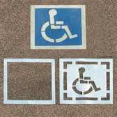 2-Piece D.O.T. Handicap Parking Lot Stencil