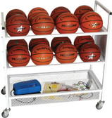 Champion Sports Heavy-Duty Double Wide Ball Cart