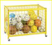 Champion Sports LRCL Locking Ball Storage Cart