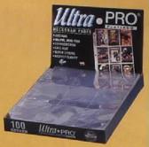 Ultra Pro #209D-1 9 Pocket Platinum Pages, 1 Box (100 pages/box)