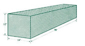 Jugs Batting Cage Netting #1 (70'L x 14'W x 12'H)  691 lb Breaking Strength
