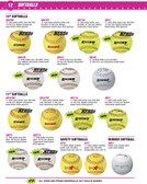 "Rhino SB112L Optic Yellow 12"" Softballs"