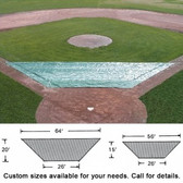 Standard Infield Protector - Large (64' x 24' x 20')