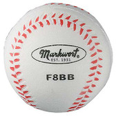 "8""FOAM BASEBALL WHT W/RED SEAMS"