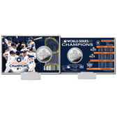 Houston Astros 2017 World Series Champions Silver Coin Card