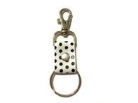 Polka Dot Leather Key Chain Clasps