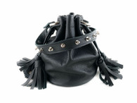NEW! Queendom Studded Leather Mini Bucket Bag