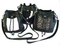 KeKe Leather & Calf Hair Bucket Bag