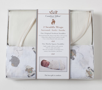 Newborn & Muslin Swaddler Gift Set - Creme