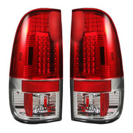 264176RD | Ford Super Duty Tail Lights Red