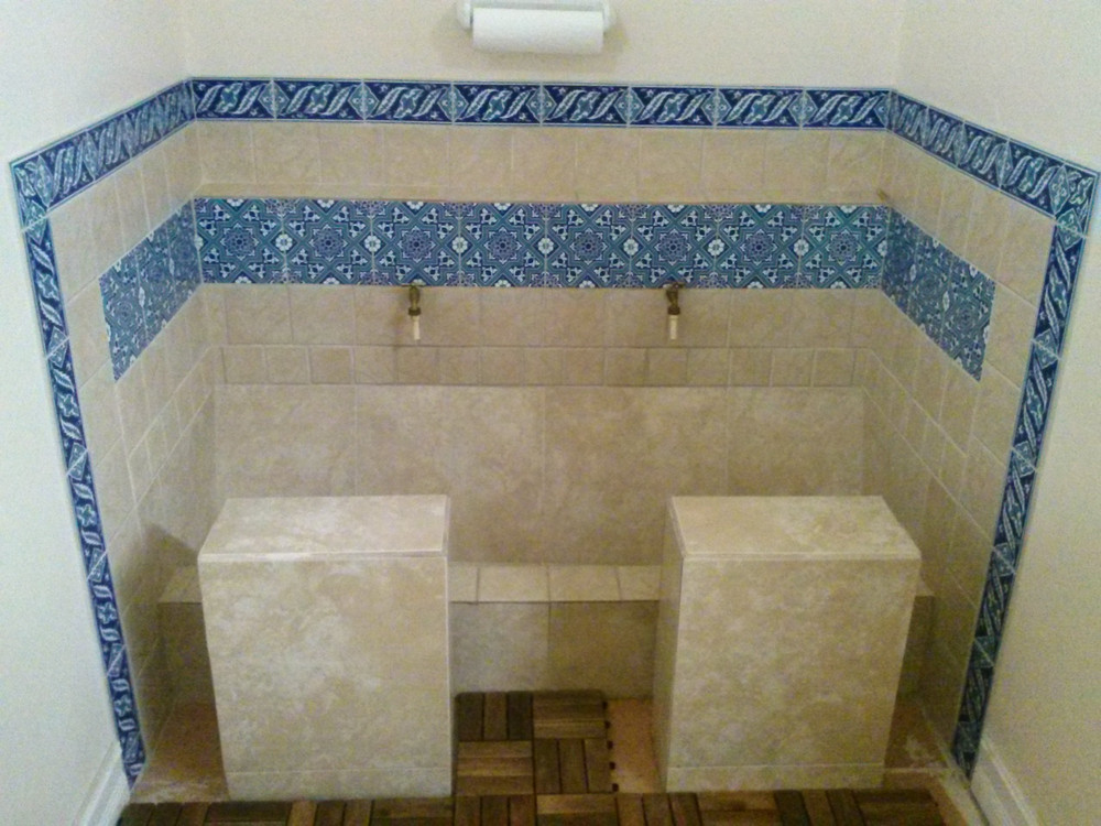 Tile 09 Corner Border used to highlight wash area  Islamic Center of Naples. Naples, FL - USA