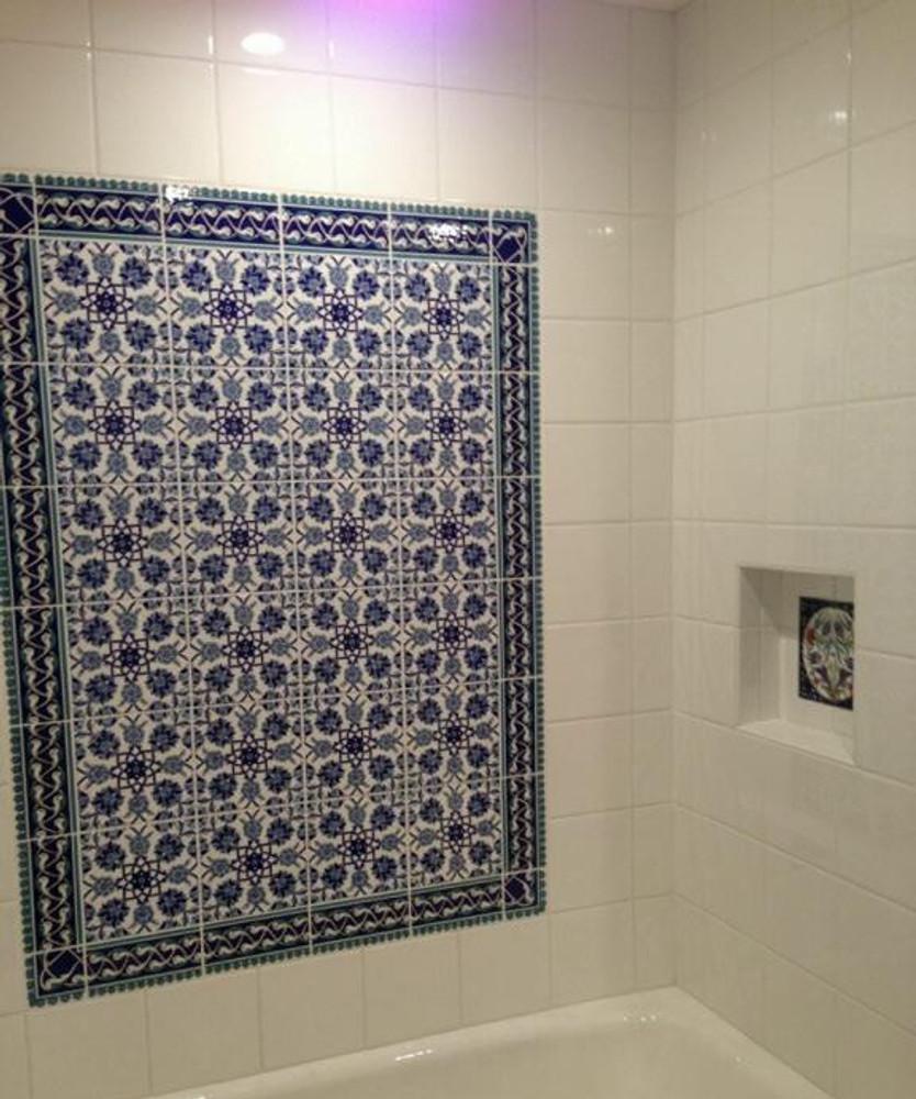 Delightful Tiling for Bathroom Wall
