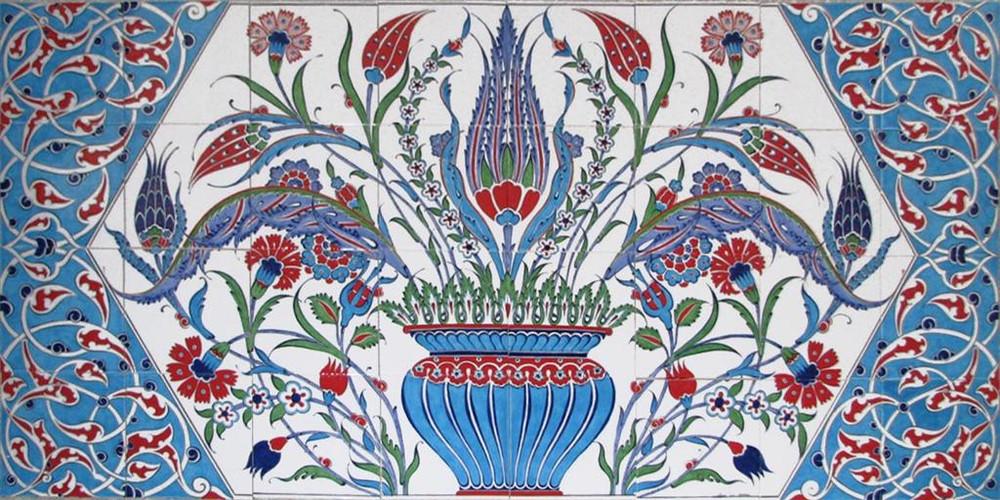 160x80cm - Cradle of Life Ceramic Tile Mural Backsplash