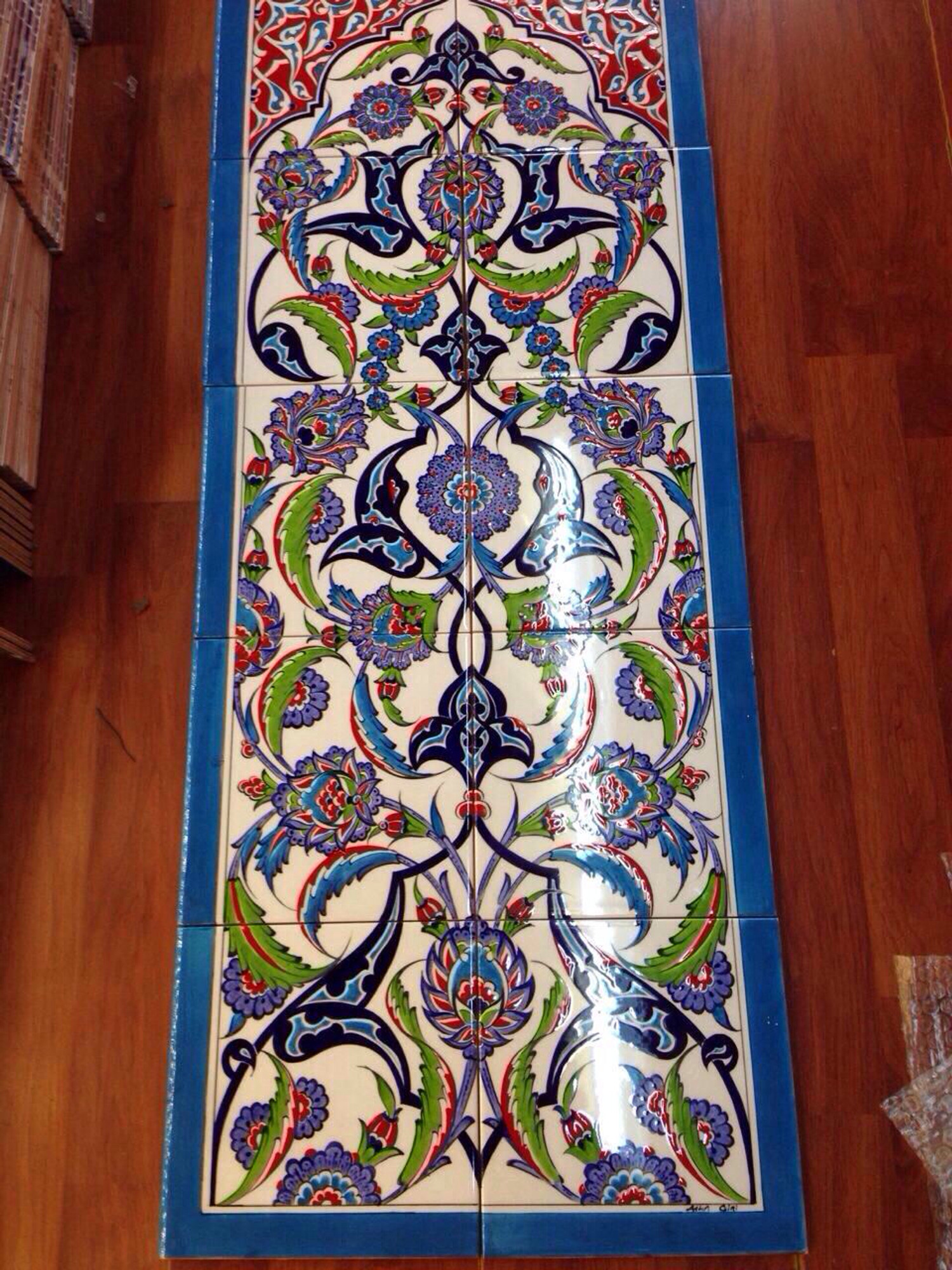 Hand painted Iznik Turkish Tiles and Tile Panels