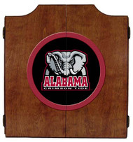 Alabama Crimson Tide Dart Board Cabinet with Elephant Logo