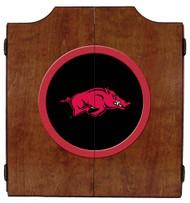 Arkansas Razorback Dart Board Cabinet