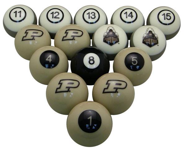 Purdue Boilermakers Billiard Ball Set
