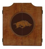 Arkansas Razorbacks Dart Cabinet - Medallion Series