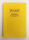 Elan Publishing Field Book E 64-8x4 W - Wire Bound - Yellow