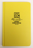 "Rite in the Rain - All-Weather Level Field Book - Case Bound - No. 310F - 5x8"" Yellow"
