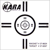 Kara 6165 Adhesive Alignment Target (Pack of 10)