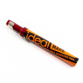 Diagraph IDEAL Mark All-Metal Permanent Marker - Red