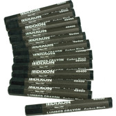 Dixon Lumbar Crayons - Black - Box of 12