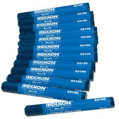 Dixon Lumbar Crayons - Blue - Box of 12