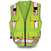 SitePro 550 Surveyor's Hi-Vis Lime Safety Vest, Class 2