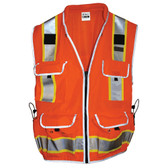 SitePro 550 Surveyor's Hi-Vis Orange Safety Vest, Class 2