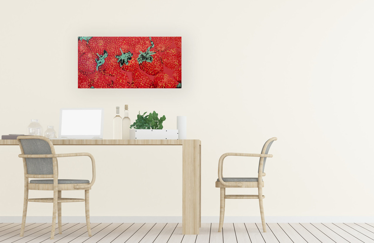Strawberry painting in dining room