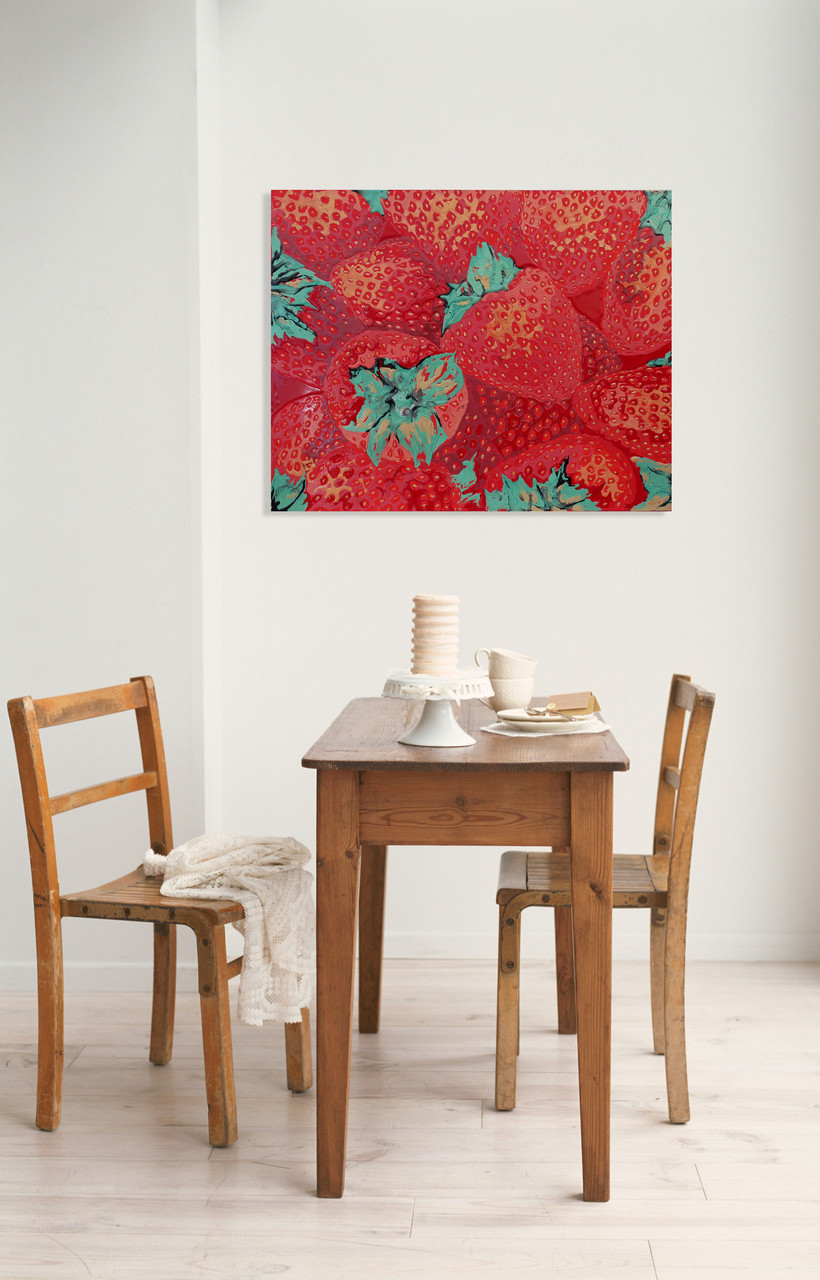 Painting for an eating area, Kitchen or restaurant art in red