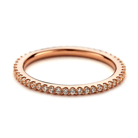 CZ Eternity Stacking Ring - Rose Gold Vermeil