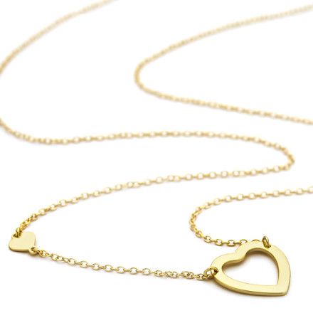 Gold vermeil heart necklace