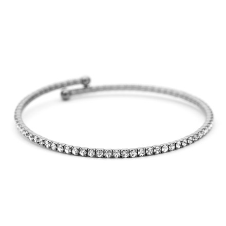 Black Rhodium Crystal Bangle